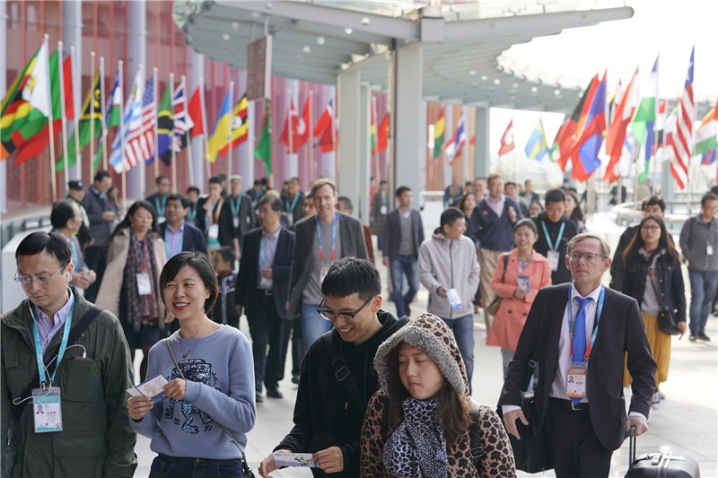 Delegates to the China International Import Expo