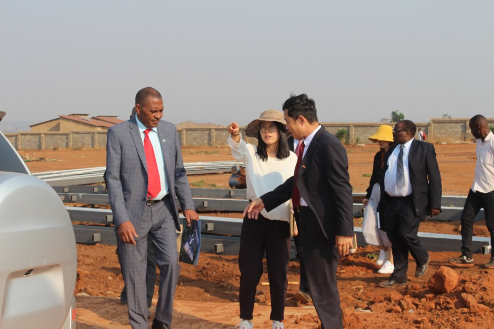 Minister Bagus at the Construction site, Grand Business Park